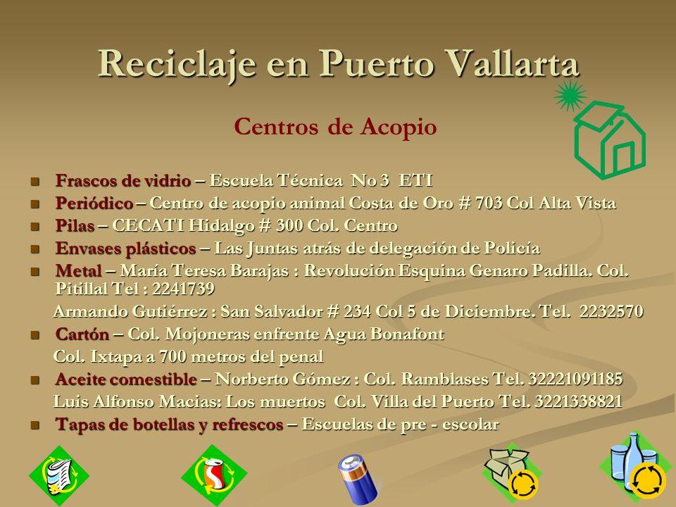 Reciclaje en Puerto Vallarta