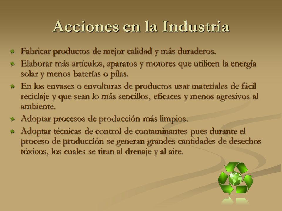 Acciones en la Industria