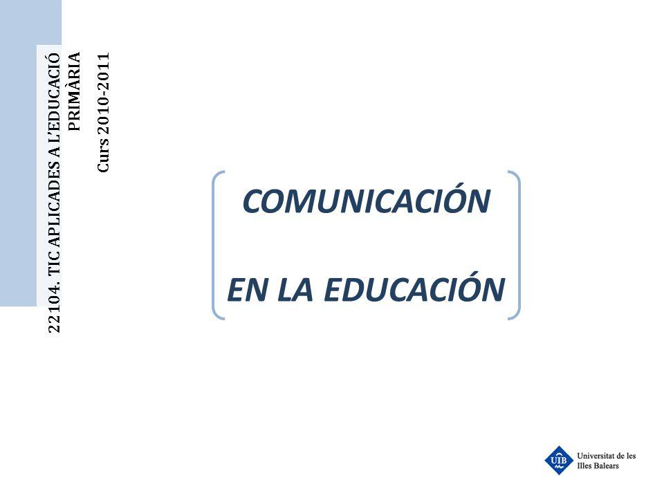 COMUNICACIÓN EN LA EDUCACIÓN