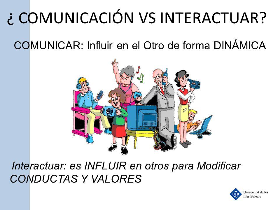 ¿ COMUNICACIÓN VS INTERACTUAR
