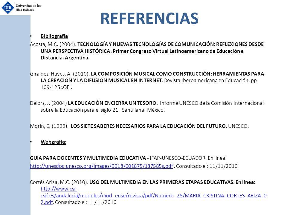 REFERENCIAS Bibliografía