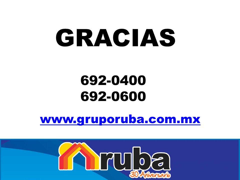 GRACIAS 692-0400 692-0600 www.gruporuba.com.mx