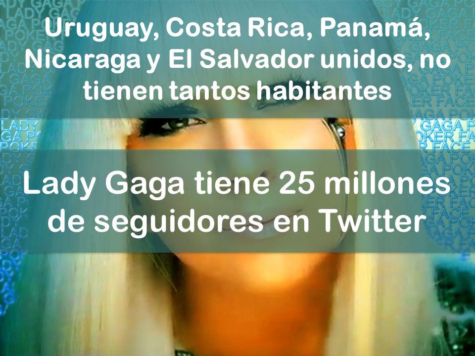 Lady Gaga tiene 25 millones de seguidores en Twitter