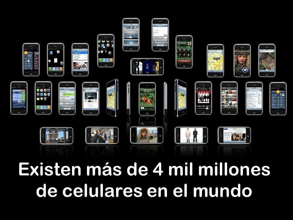 Existen más de 4 mil millones de celulares en el mundo