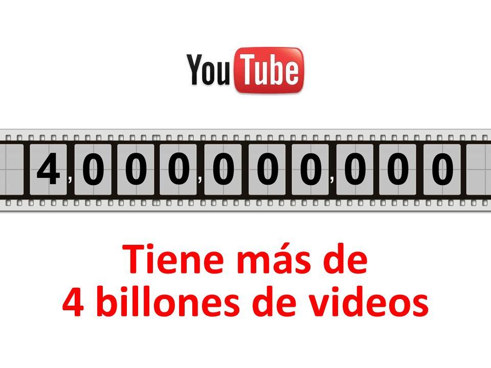 Tiene más de 4 billones de videos