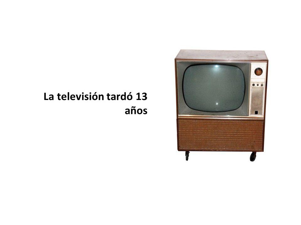 La televisión tardó 13 años