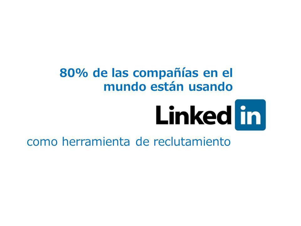 80% de las compañías en el mundo están usando