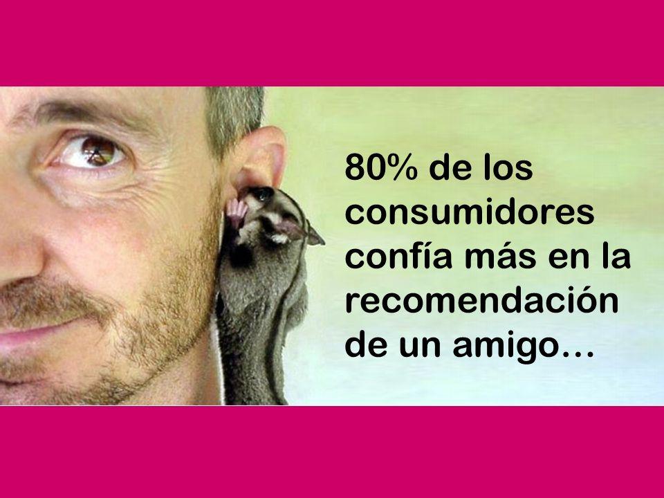 ¡MAS TE VALE! 80% de los consumidores confía más en la recomendación de un amigo…
