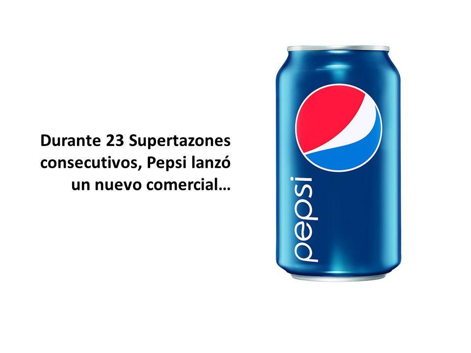 Durante 23 Supertazones consecutivos, Pepsi lanzó un nuevo comercial…