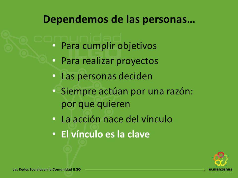 Dependemos de las personas…