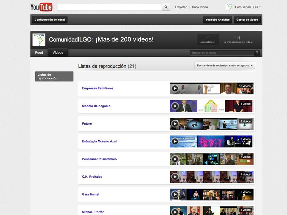 : ¡Más de 200 videos!