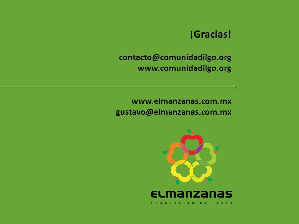 ¡Gracias! contacto@comunidadilgo.org www.comunidadilgo.org