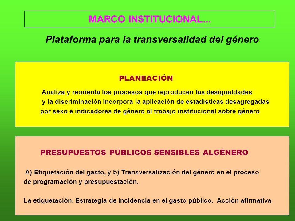 Plataforma para la transversalidad del género