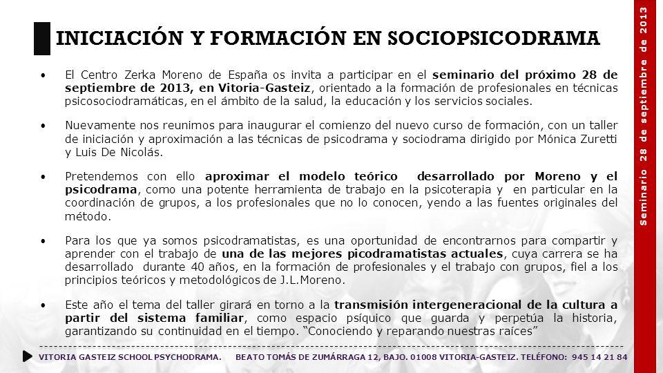 Iniciación y Formación en Sociopsicodrama