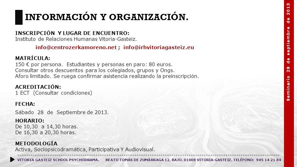 Información y Organización.