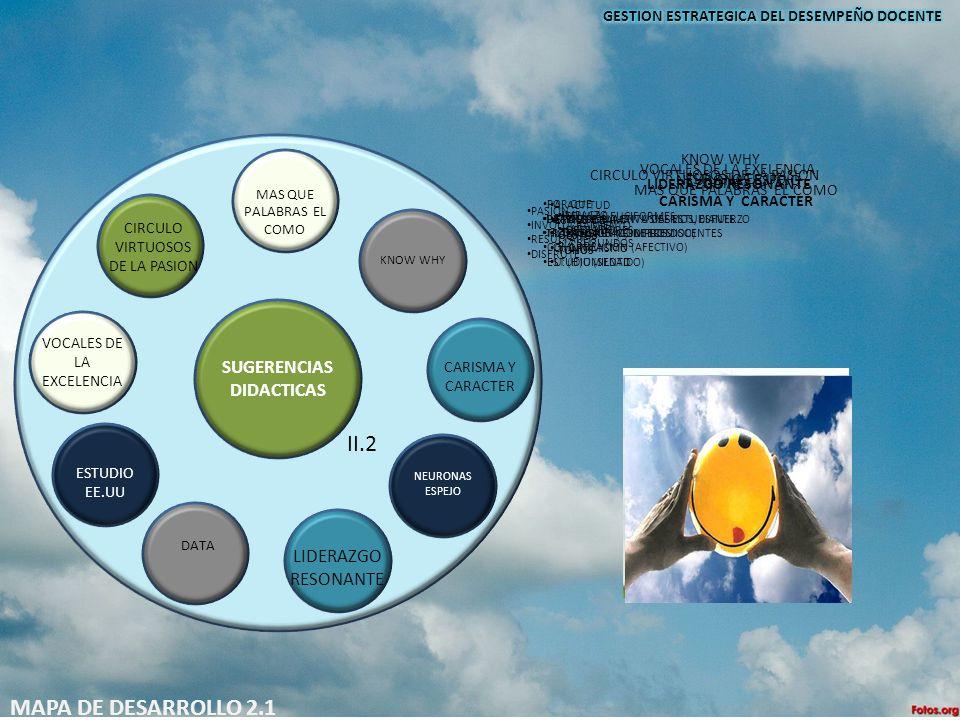 II.2 MAPA DE DESARROLLO 2.1 SUGERENCIAS DIDACTICAS LIDERAZGO RESONANTE