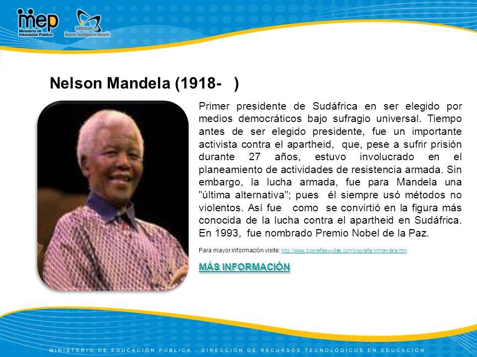 Nelson Mandela (1918- )