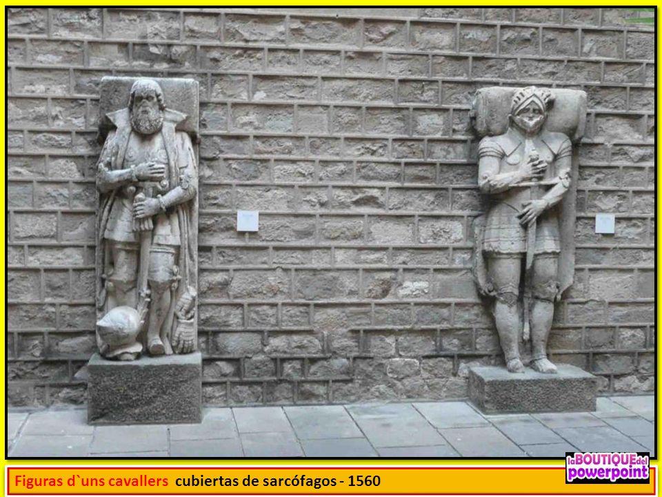 Figuras d`uns cavallers cubiertas de sarcófagos - 1560