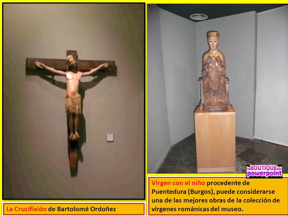 Virgen con el niño procedente de Puentedura (Burgos), puede considerarse una de las mejores obras de la colección de vírgenes románicas del museo.