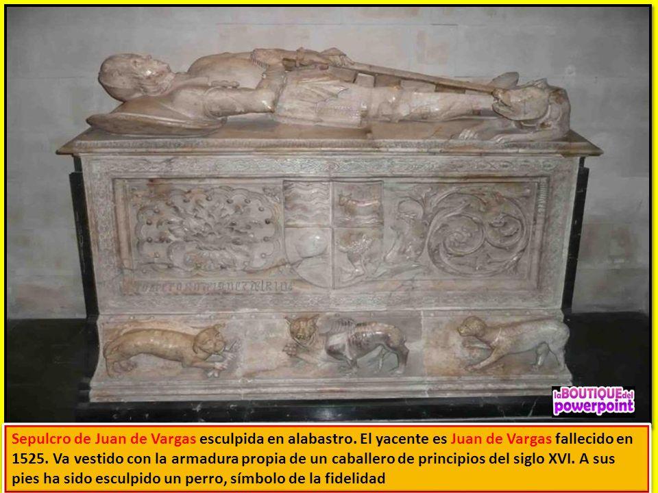 Sepulcro de Juan de Vargas esculpida en alabastro