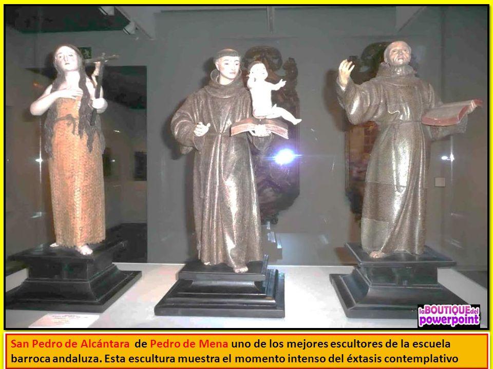 San Pedro de Alcántara de Pedro de Mena uno de los mejores escultores de la escuela barroca andaluza.