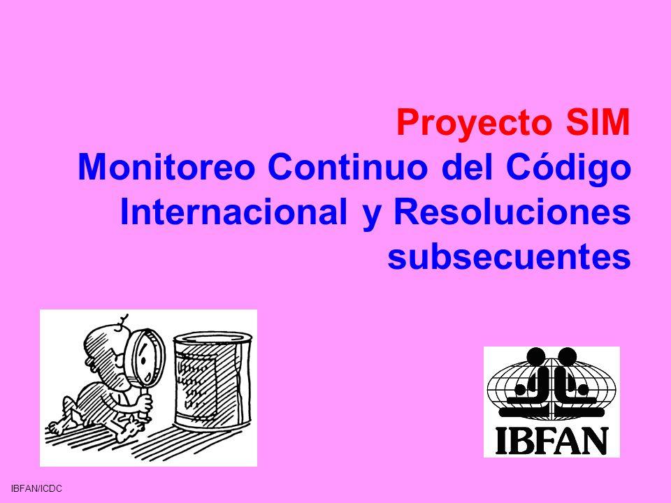 Proyecto SIM Monitoreo Continuo del Código Internacional y Resoluciones subsecuentes
