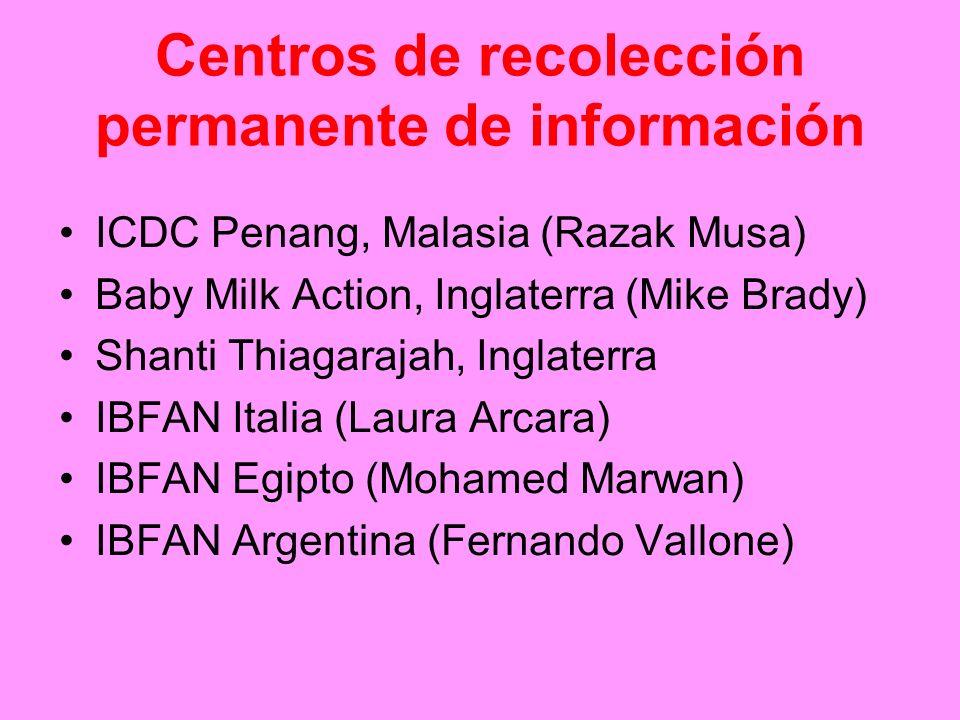 Centros de recolección permanente de información