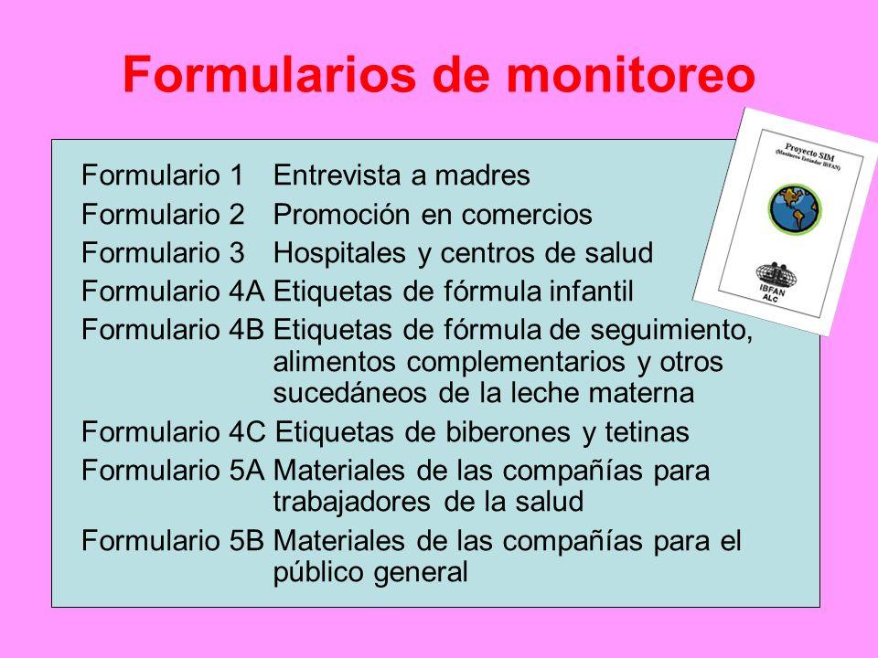 Formularios de monitoreo