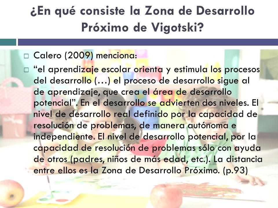 ¿En qué consiste la Zona de Desarrollo Próximo de Vigotski