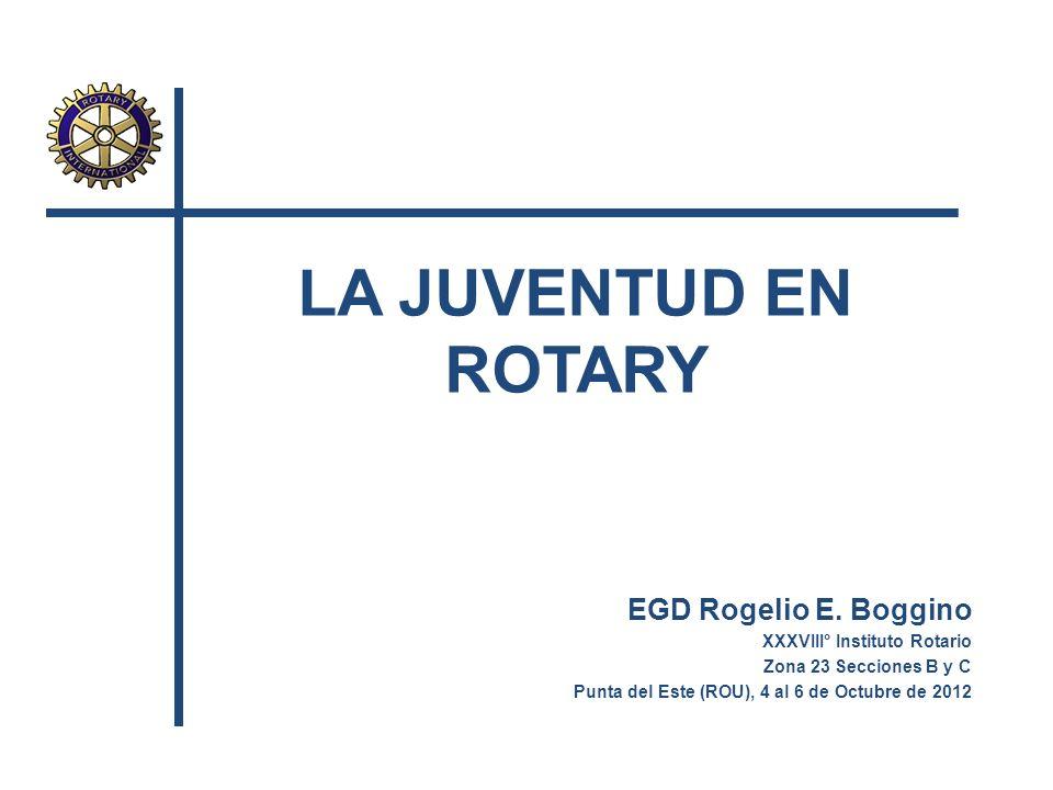 LA JUVENTUD EN ROTARY EGD Rogelio E. Boggino