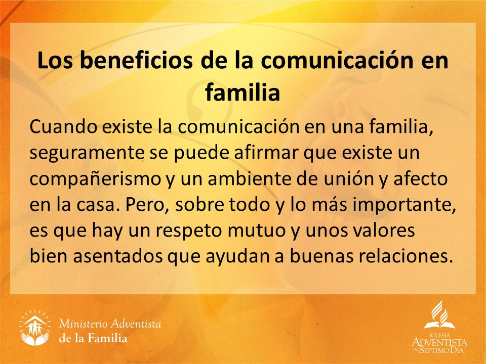 Los beneficios de la comunicación en familia
