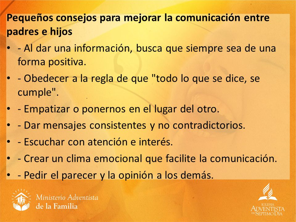 Pequeños consejos para mejorar la comunicación entre padres e hijos