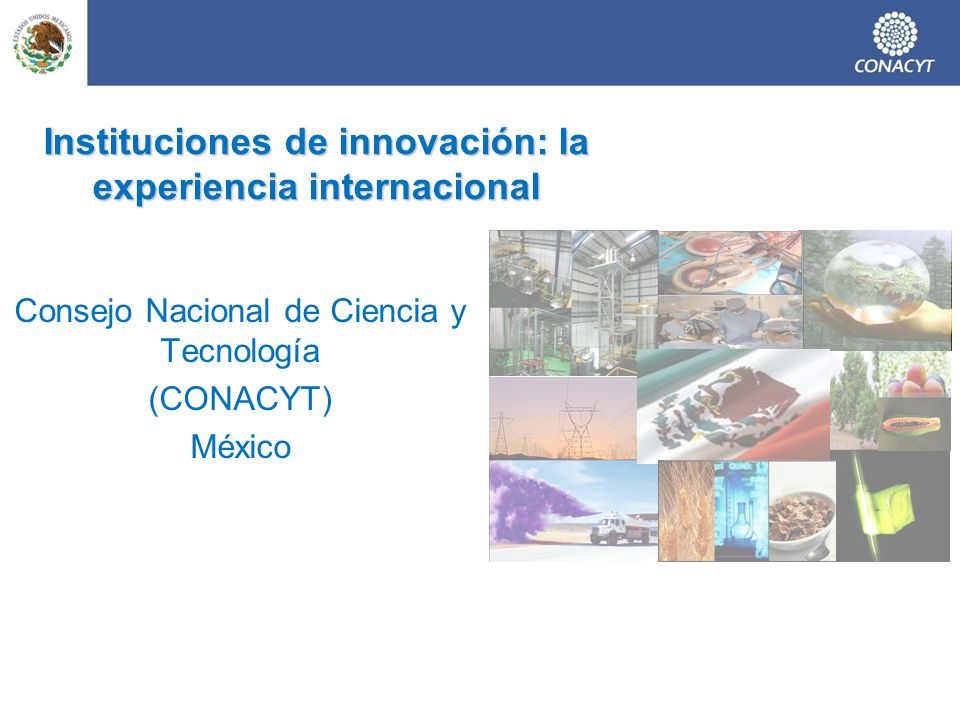Instituciones de innovación: la experiencia internacional