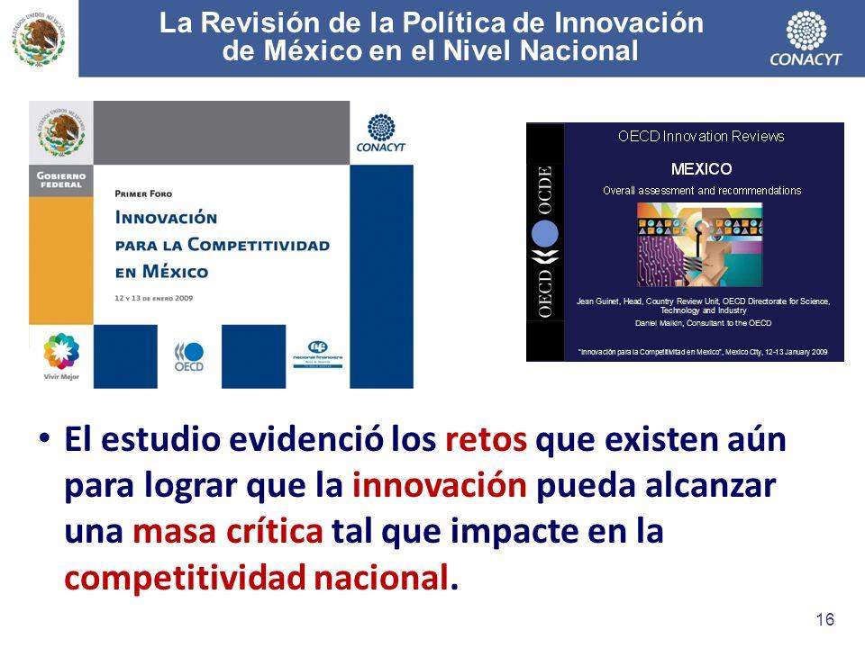 La Revisión de la Política de Innovación de México en el Nivel Nacional