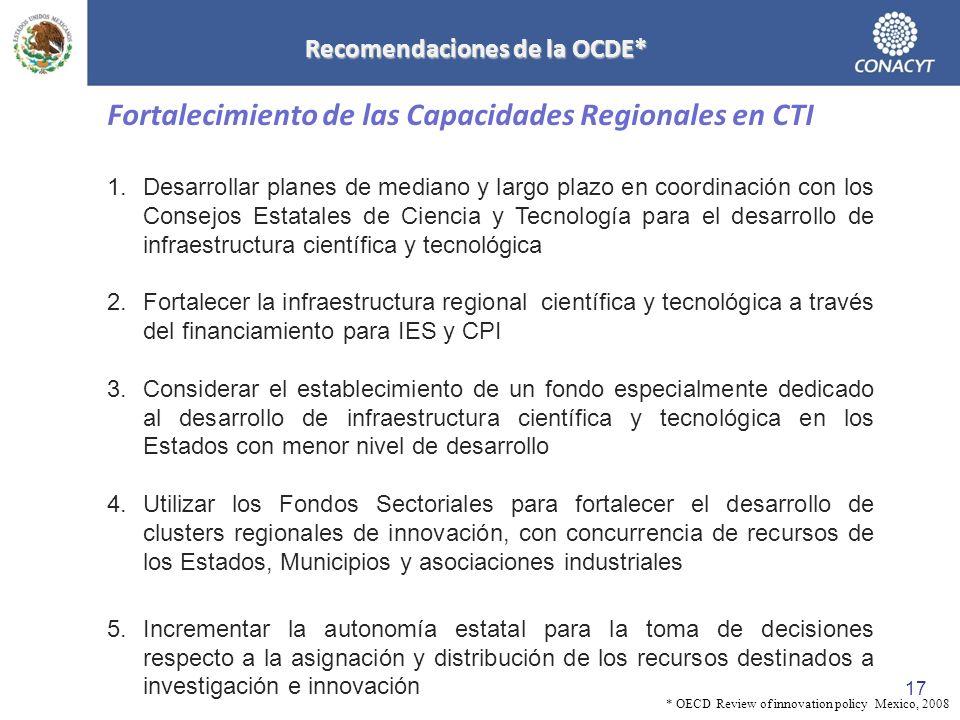 Recomendaciones de la OCDE*