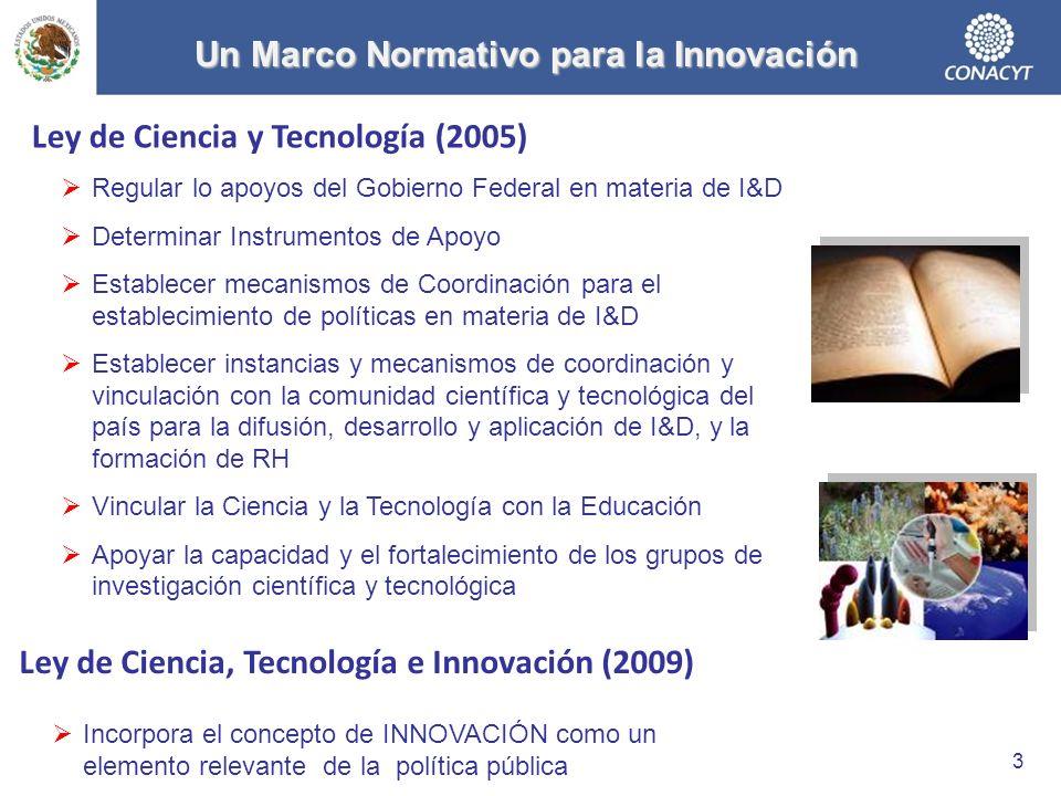 Un Marco Normativo para la Innovación