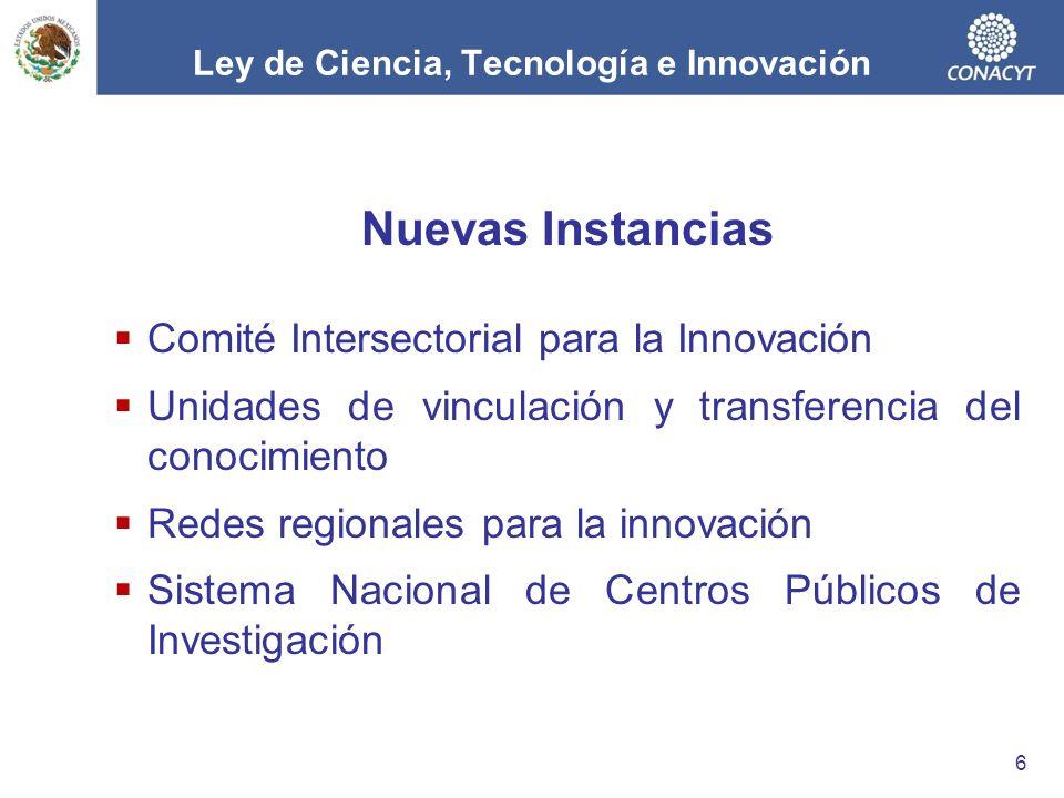 Ley de Ciencia, Tecnología e Innovación