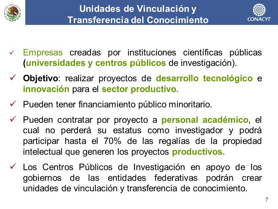 Unidades de Vinculación y Transferencia del Conocimiento