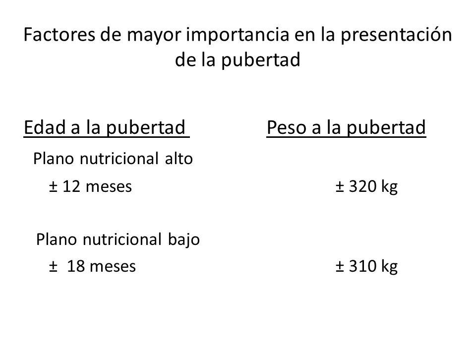 Factores de mayor importancia en la presentación de la pubertad