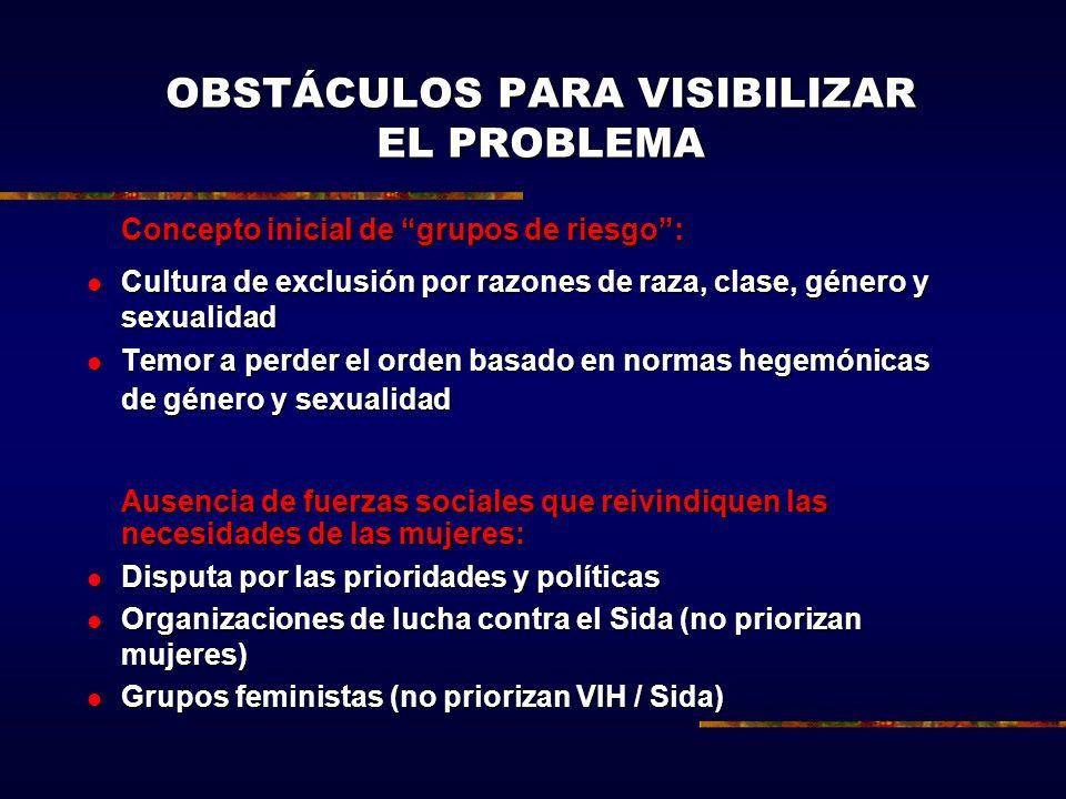 OBSTÁCULOS PARA VISIBILIZAR EL PROBLEMA