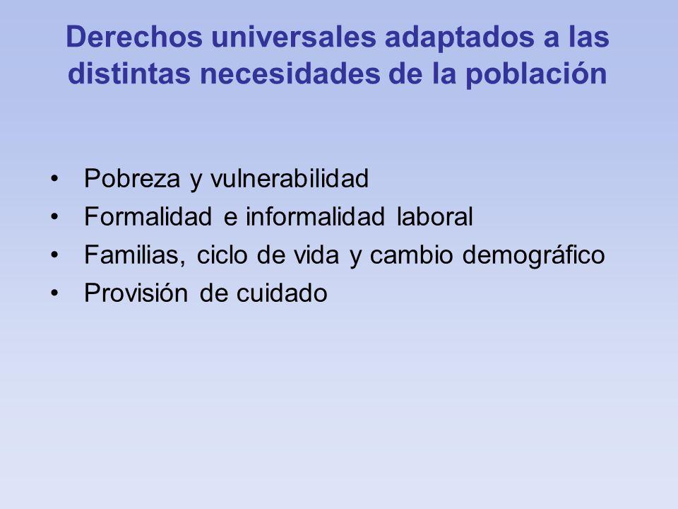 Derechos universales adaptados a las distintas necesidades de la población