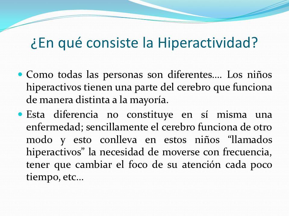 ¿En qué consiste la Hiperactividad