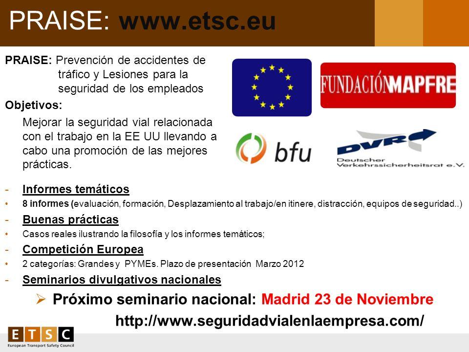 Próximo seminario nacional: Madrid 23 de Noviembre