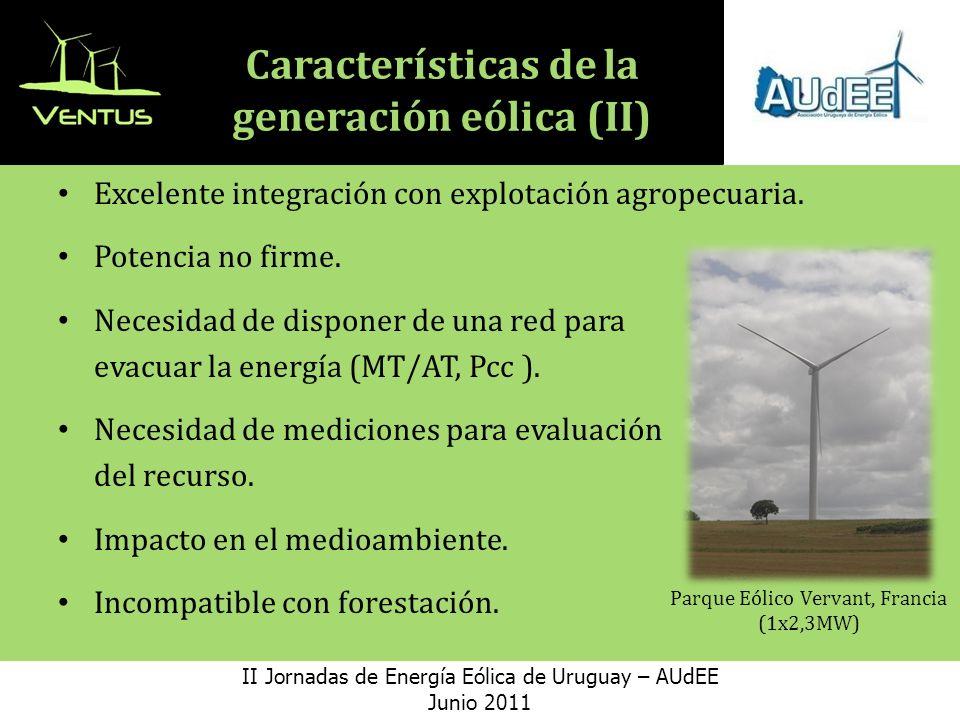 Características de la generación eólica (II)