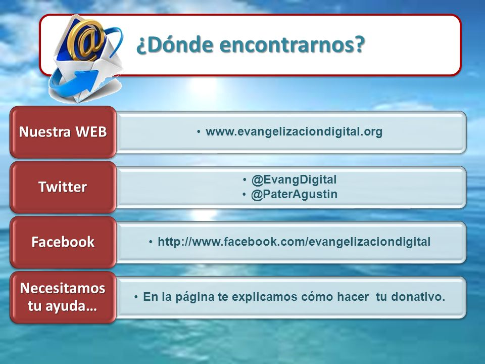 En la página te explicamos cómo hacer tu donativo.