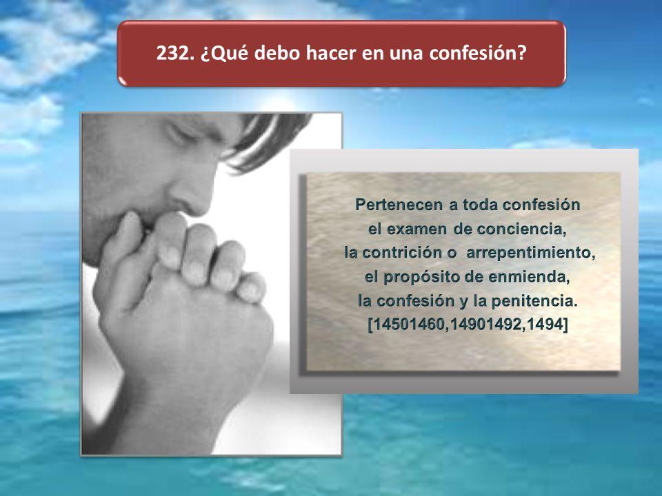 232. ¿Qué debo hacer en una confesión