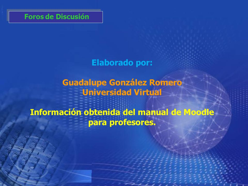 Guadalupe González Romero Universidad Virtual