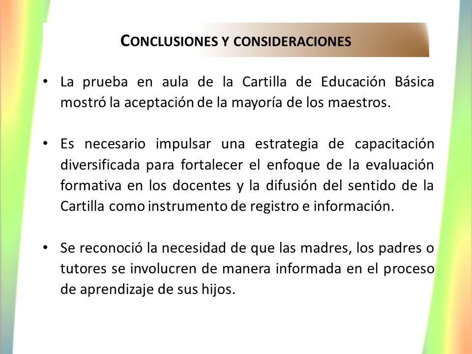 Conclusiones y consideraciones