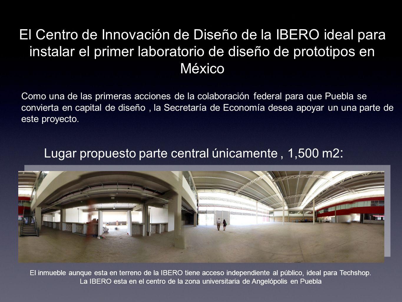 Lugar propuesto parte central únicamente , 1,500 m2: