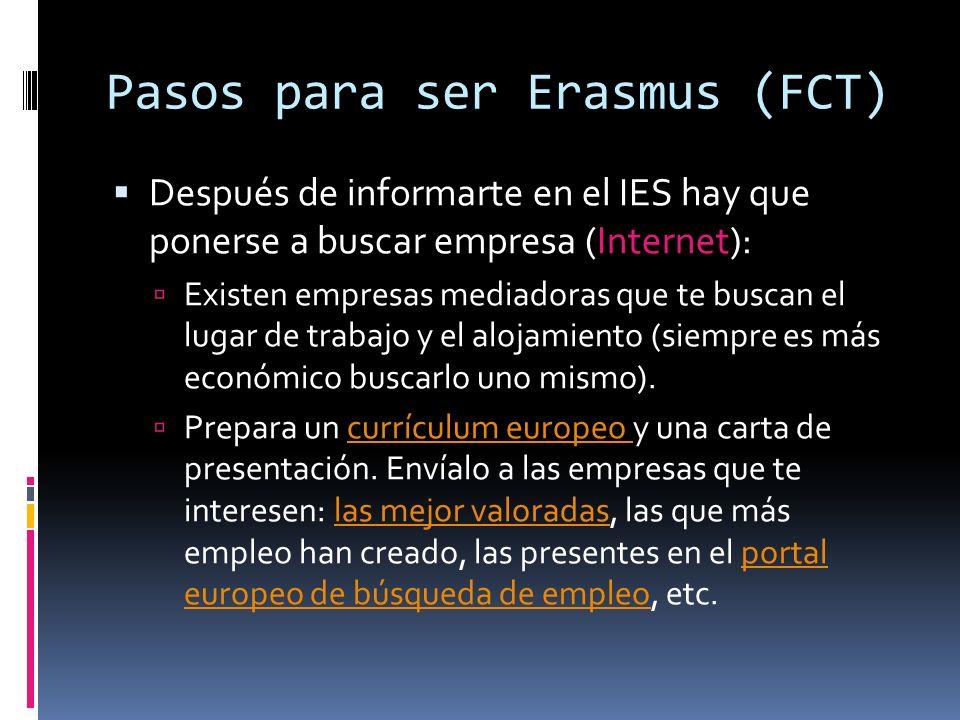 Pasos para ser Erasmus (FCT)